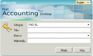 Đăng nhập vào link Fast Accounting Online