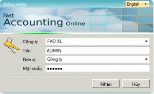 Nhập tên và mật khẩu được cung cấp trong thư điện tử